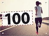 100 Startnummern Go, Papier classic-race, Format 20 x 14,5 cm (ca. DIN A5), nummeriert von Nummer 1
