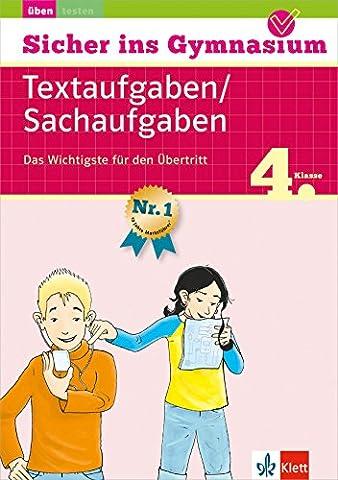 Klett Sicher ins Gymnasium Mathematik Textaufgaben/ Sachaufgaben 4. Klasse: Das