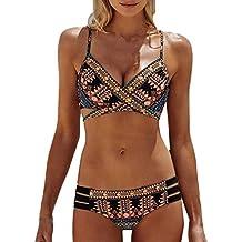 Sannysis bikini tanga mujer playa, Mujer Bañador bikini brasileño sexy Sujetador push-up de