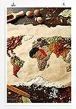 Sinus Art Kunst und Deko Poster - Food-Fotografie – Buntes Gemüse aus Aller Welt- Fotodruck in gestochen scharfer Qualität