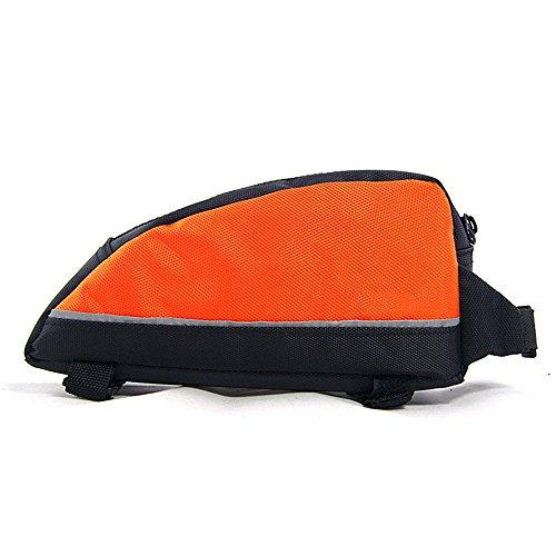 Liergou Universal Fitting Outdoor Schwanz Hinten Beutel Fahrrad Tasche Fahrrad Satteltasche Dreieck Regendicht MTB Rennrad Zubehör Sattel Post Tasche (Farbe : Orange)