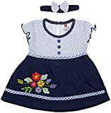 Amy Baby Girls Dress (758_BLUE, Blue, 6-12M) - Special Offer with Free Shipping - 100% Cotton Exclusive Kidswear
