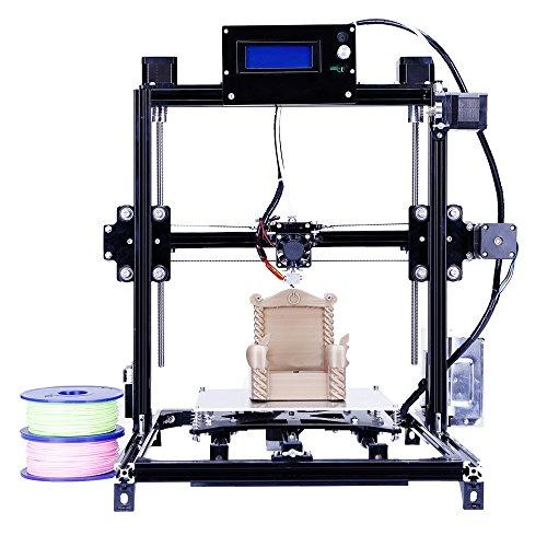 Prusa i3 Ensemble de bricolage 3D Imprimante RepRap Mise à niveau automatique avec grande taille d'impression 3D Haute précision et stabilité Lit chauffant Écran LCD