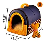 ACTNOW Pet house 2-in-1 and Classic Portable Washable Sofa Non-Slip Dog Cat Cave House Beds with Removable Cushion Warm… 18