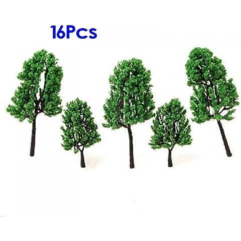 Modelos De Pinos de Arboles Tren Conjunto de Paisaje HO - 16PCS Model Trees