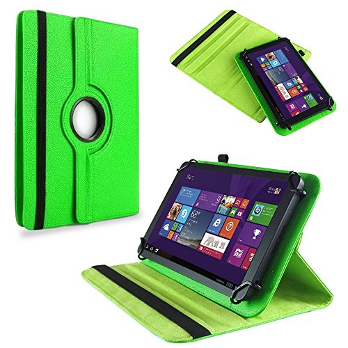 NAUC Tasche Hülle f TrekStor SurfTab Twin 10.1 Tablet Schutzhülle Case Schutz Cover, Farben:Grün