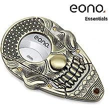 Eono Essentials, tagliasigari, con teschio tridimensionale, lama in acciaio inossidabile autoaffilante, ghigliottina a doppia lama, bronzo anticato