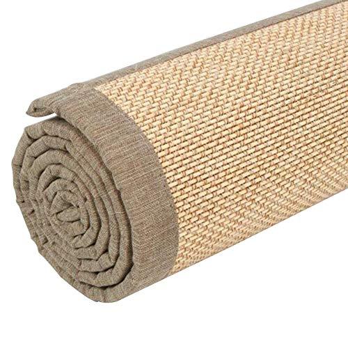 GUORRUI Alfombra De Bambú Estera Guay Suave Aislamiento Acústico Respirable Enfriarse Yoga Descanso Amortiguar, 4 Estilos, El Tamaño Puede Ser Personalizado (Color : C, Tamaño : 50×150cm)