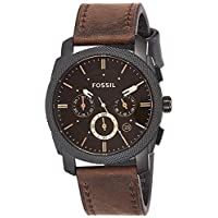 Fossil Mens Quartz Watch, Analog Display and Leather Strap FS4656