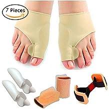 Corrector de juanetes, kit de mangas protectoras de alivio de juanetes, separadores de dedos y depredadores para martillo de pies, sastres juanetes.