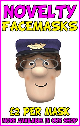Image of Postman Pat Novelty Celebrity Face Mask Party Mask Stag Mask