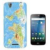002289 - Blue Water World Map Atlas Design Acer Liquid Z630