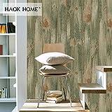 KYKDY Vintage beunruhigt Holz Planke PVC Vinyl Tapete für Wand 3d Aufkleber Olive Green Wohnzimmer Schlafzimmer Home Decoration, China