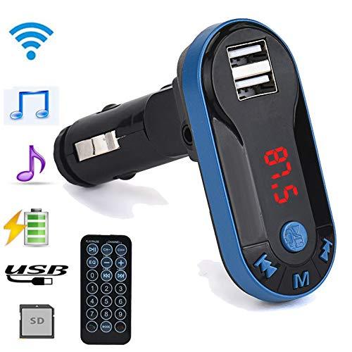 TianranRT FM Sender MP3 Lecteur mains libres mains libres voiture USB TF SD T/él/écommande argent