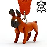 Boxer Dog Bobby - Leather Key - Chain - Holder - Ring in high Quality Airbrush Design, gift, mug, soft toy, food, keyring