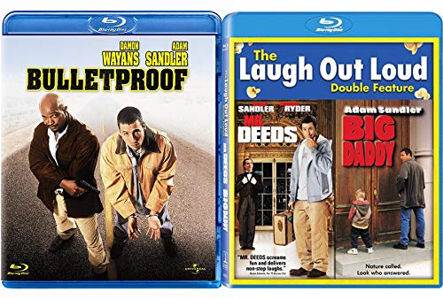 Cop Crook Friends Triple Adam Sandler Bulletproof + Mr. Deeds & Big Daddy Comedy Triple Feature Blu Ray Bundle Laugh a Movie Set