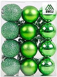 BWSJ Christmas Balls Ornaments for Xmas Christmas Tree 3 Style Shatterproof Christmas Tree Decorations Hanging