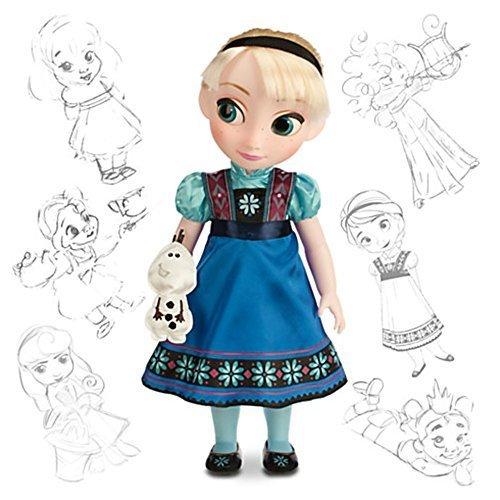 Offizielle Disney Gefrorene 40cm Elsa Die Schneekönigin Animator Kleinkind Puppe Mit Olaf Zubehör