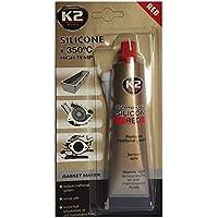 K2 Hochtemperatur Silikon, Dichtmasse, Dichtsilikon, hochtemperaturbeständig bis +350°C, rot, 85g