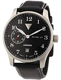 Junkers Herren-Armbanduhr XL Iron Annie JU52 Analog Handaufzug Leder 66382