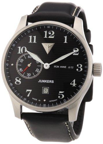 Junkers 66382 - Orologio da polso uomo, pelle, colore: nero