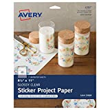 """Full-Sheet Sticker Project Paper 8.5""""X11"""" 7 Sheets-Clear"""