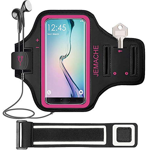 Galaxy S9/S8 Plus Brazalete, JEMACHE Gimnasio Correr Ejercicio Banda de Brazo para Samsung Galaxy S9+/S8+ (Rosy)