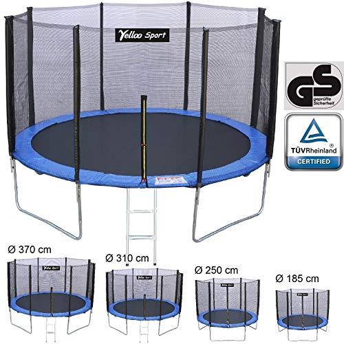 Yelloo yelloosport trampolino tappeto elastico giardino salto bambini diametro 185 250 310 370 cm certificato tuv gs alta qualità (diametro, 310 cm)