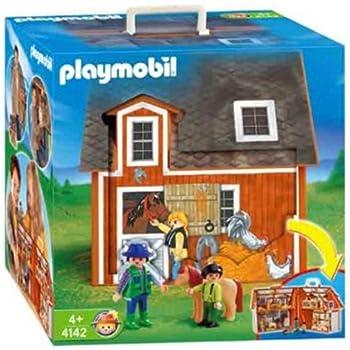 playmobil 4142 ferme transportable jeux et jouets. Black Bedroom Furniture Sets. Home Design Ideas