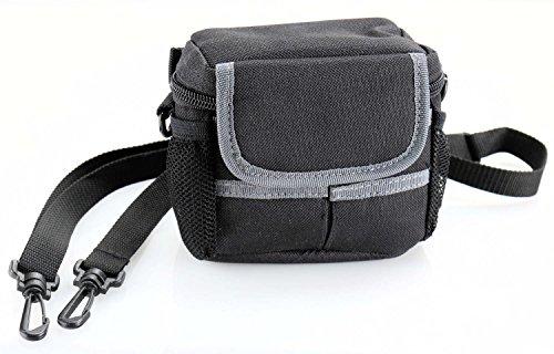 Kleine Kameratasche schwarz / grau - passend für Canon PowerShot SX730 HS, Sony DSC-RX100 III, Sony DSC-HX60, Panasonic DMC-TZ71EG-K, Panasonic LUMIX DMC-TZ81EG-K