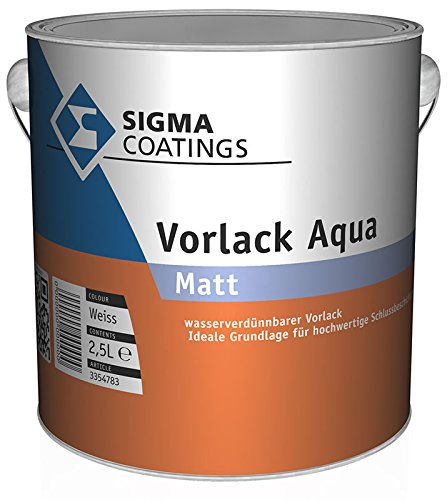 Preisvergleich Produktbild SIGMA Acryl-Vorlack Aqua Weiß Matt innen & außen Weiß 1 Liter