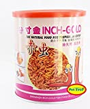 #10: Pettree Blood Worms - 55gm - inch Gold - Natural Fish Food - Tin Pack - Aquarium Fish Tank - All Tropical Fishes Feed