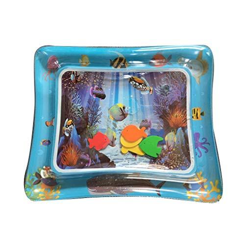 Sunlera Baby-Kind-aufblasbare Wasser-Spiel-Matte PVC Baby Bauch-Zeit Playmat Kleinkind Fun Activity Center Spielen