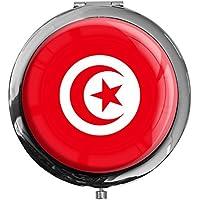 """metALUm - Extragroße Pillendose in runder Form""""Flagge Tunesien"""" preisvergleich bei billige-tabletten.eu"""