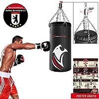 Sportstech Sac de Boxe Professionnel BXP Double renforcé avec Fixation à 360, avec Poster d'entraînement et est recommandé par la Berlin Boxing Association pour Les Enfants et Les Adultes