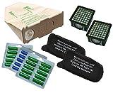 Super-Spar-Set, 30 Staubsaugerbeutel, 2 Hygienefeinfilter, 2 Geruchsfilter plus 30 Duftstäbchen geeignet für Ihren Vorwerk Kobold 130 / 131
