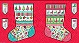 Makower Stoff-Weihnachtsstrumpf Panel 100% Baumwolle mit