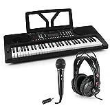 Schubert Etude 300 • Tastiera • Tastiera elettronica • Organo • Pianoforte • Funzione Record • LED • Brani integrati • Altoparlanti • Portatile • Leggio • Microfono • Auricolari • Accessori • Nero