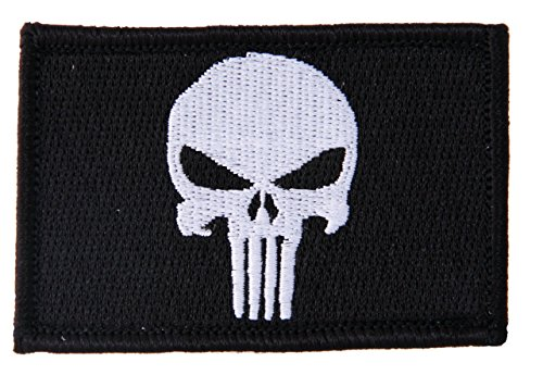 KLETTBAND Velcro Punisher Tactical Military Morale Biker Outlaw Skull Aufnäher Patch