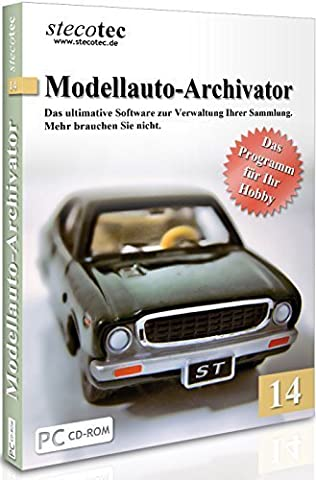Software f. Verwaltung v. Modellautos - Stecotec Modellauto-Archivator 14 - Verwalten Sie Ihre Modelle samt Zubehör am PC - Katalog / Datenbank Programm zur Modellautoverwaltung