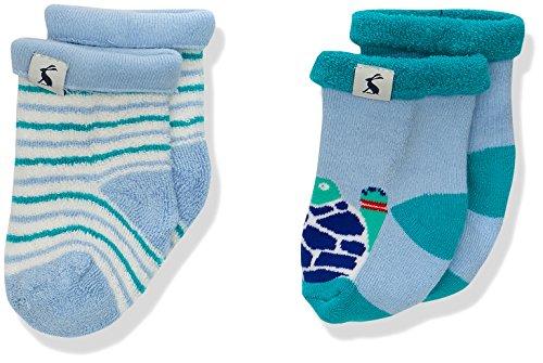 Joules Baby-Jungen Socken Terry, 2er Pack, Grün (Tortoise TRTOISE), 12-24 Monate (Herstellergröße:1-2)