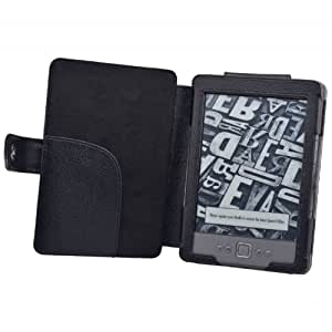 TeckNet® NEW Kindle 4 Premium Folio Case / Cover With Magnetic Clasp for NEW Amazon Kindle 4 / 6 inch / 2011 generation / Book Style - Black