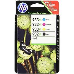 HP C2P42AE - Pack de 4 cartuchos de tinta HP 932XL/933XL (negro, amarillo, cian, magenta)