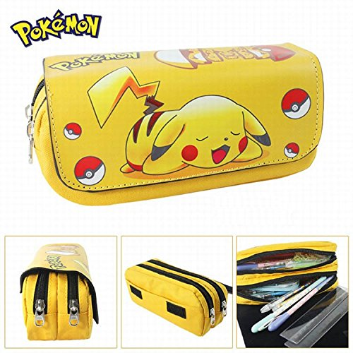 Pencil Case school two compartments Pokemon Pikachu Test