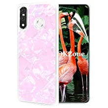 OKZone Case for Huawei P30 Lite Case [with HD Screen Protector], Cute Bling Glitter Soft Gel TPU Silicone Skin Cover Anti-scratch Protective Case for Huawei P30 Lite (Light Pink)