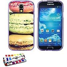 Muzzano–Cover morbida ultra sottile Samsung Galaxy S4Advance al, motivo: macaron esclusivo [] [Viola] di MUZZANO + Pennino e Panno Muzzano® offerti–La protezione antigraffio Ultime, elegante e resistente per la Samsung Galaxy S4Advance