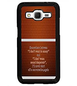 PrintDhaba Quote D-1320 Back Case Cover for SAMSUNG GALAXY CORE PRIME (Multi-Coloured)