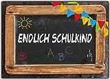 Einladungskarten zur Einschulung Schulanfang Schule Einladung Karten - 10 Stück Endlich Schulkind Mädchen Schuleinführung Junge Schulanfang