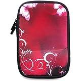 Agua Emartbuy Rosa Mariposas Resistente Funda De Neopreno Suave Postal / Cubierta Adecuada Para Sony Prs T1 Ereader (7 Pulgadas Tablet / Ereader)