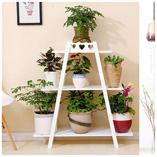 Zhuzhu hanging orchid frame home soggiorno camera in legno massello rack integrato mensola singola a più strati (color : bianca)